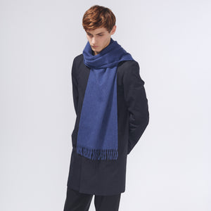 PLAIN SCARF - BLUE