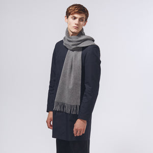 PLAIN SCARF - GREY