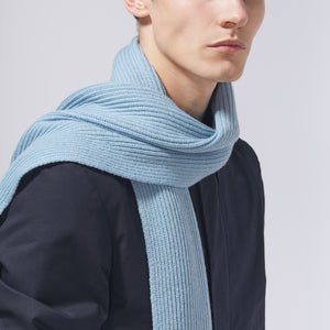 RIB SCARF - LIGHT BLUE