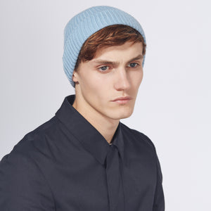 RIB HAT - LIGHT BLUE