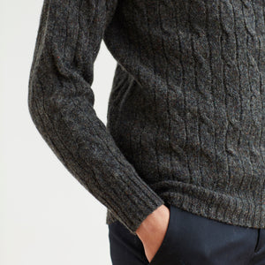 CABLE SWEATER - CHARCOAL
