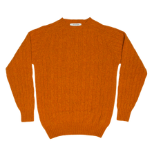 CABLE SWEATER - ORANGE