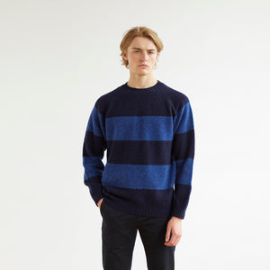 STRIPE SWEATER - BLUE