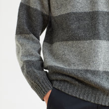 STRIPE SWEATER - GREY