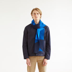 CHART SCARF - BLUE
