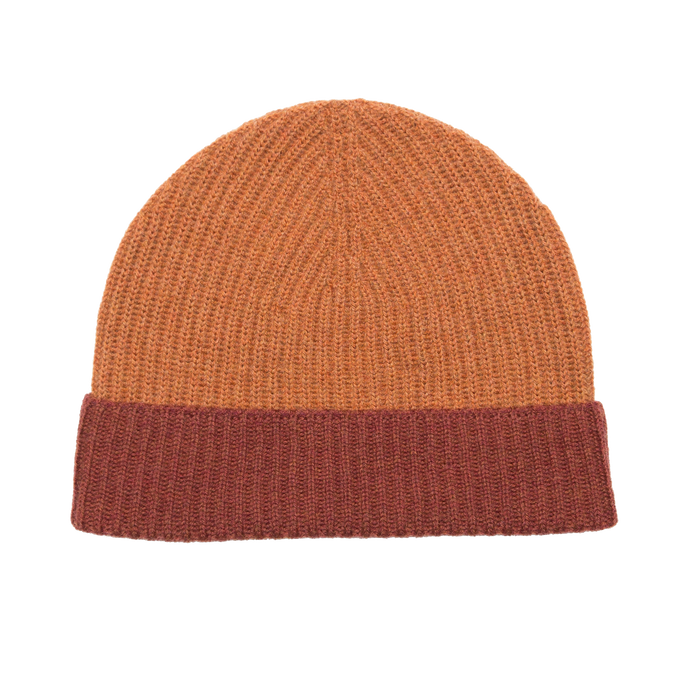 RIB HAT - BURNT ORANGE