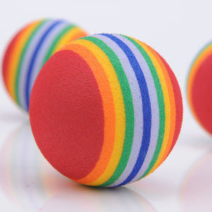 Rainbow Ball Cat Toy - Pack of 10