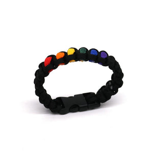 Paracord Rainbow Bracelet - FREE WITH THIS LINK JUST PAY SHIPPING