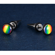 Punk Rainbow Stud Earrings