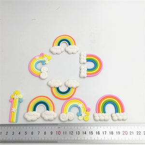 Rainbow Clouds Cupcake Cake Topper