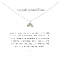 'Magical Possibilities' Rainbow Necklace in Gold or Silver - Beautiful Gift