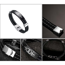Magnetic Black Silicon Pride Bracelet for Women