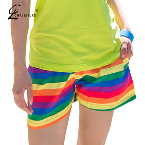 Summer Rainbow Striped Shorts