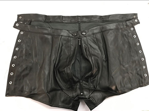 Sexy Faux Leather Boxers