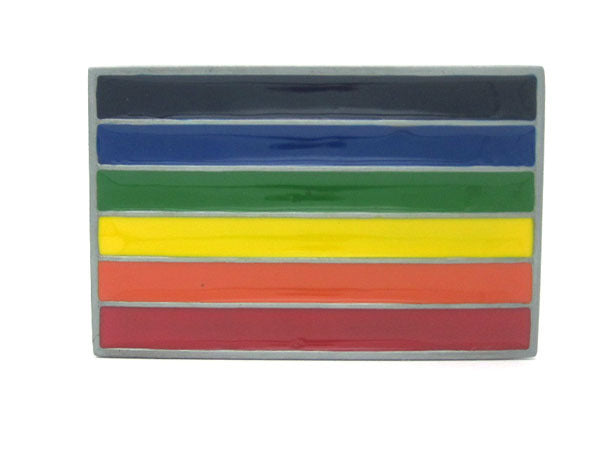 Gay Pride Rainbow Flag Belt Buckle