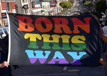 'Born This Way' LGBT Parade Flag 3 x 5 ft (150 x 90cm)