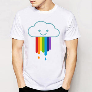 It's Raining Gay! T-Shirt with Rainbow Design - 2 Styles