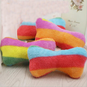 Rainbow Plush Squeaker Toy