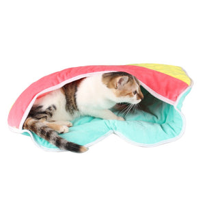Rainbow Heart Cat Sleeping Bag
