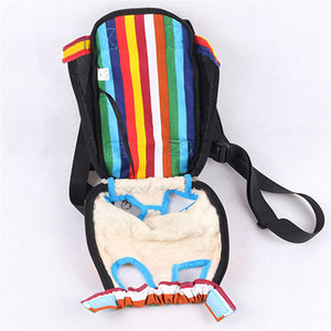 Cute Rainbow Backpack Carrier for Small Dogs