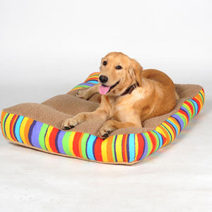 Big Colourful Rainbow Dog Mattress