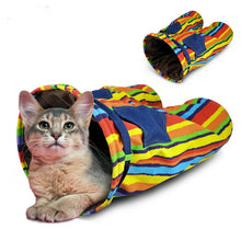 Cool Rainbow Denim Jeans Tunnel for Cats