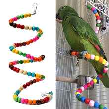 Colorful Wooden Bead Ladder For Pet Bird