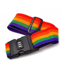Adjustable Rainbow Travel Luggage Strap with Combination Lock - FREE SHIPPING
