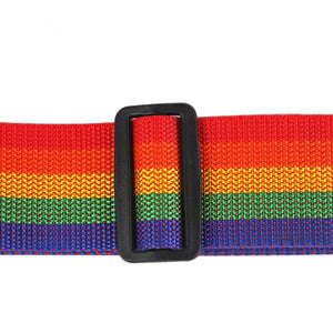 Adjustable Rainbow Travel Luggage Strap with Combination Lock