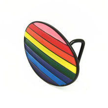 Rainbow Oval Belt Buckle