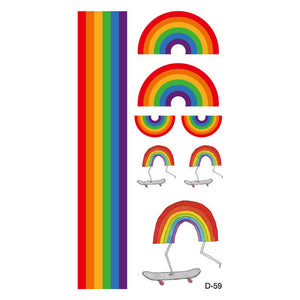 Rainbow Art - Temporary Tattoos