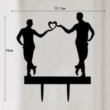 Wedding Cake Topper with 2 Male Figures