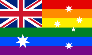 Aussie Rainbow Pride (Big Flag)