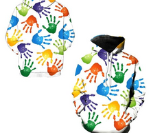 Colorful Sweatshirt With 'Paint Dripping' Rainbow Design