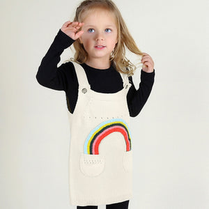 Pretty Girls Dress with Rainbow Design