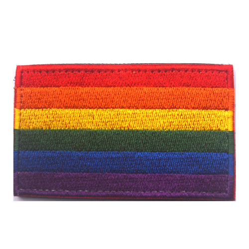 Rainbow Flag Embroidered Patch 3