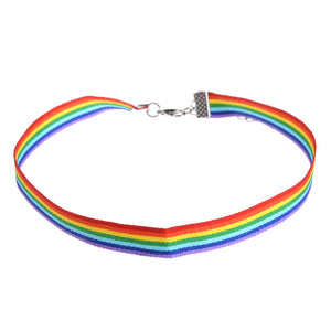 Gay Pride Rainbow Choker Necklace