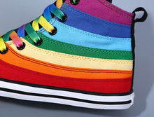 Rainbow Canvas Women Shoes