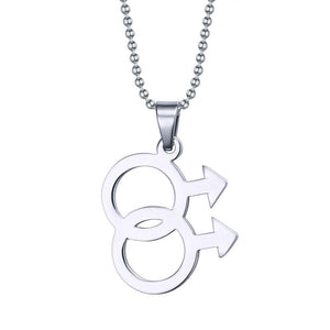 Gay Male Symbol Stainless Steel Pendant
