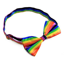 Rainbow Stripe Bow Tie