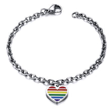 Love Heart Rainbow Gay Pride Bracelet