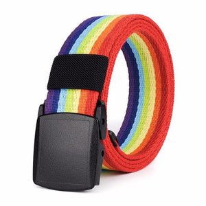 Rainbow Canvas Belt