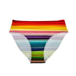 Stylish Rainbow Design Women's Underwear