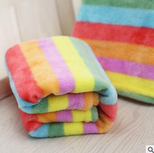 Soft Flannel Rainbow Blanket For Small and Medium Dogs
