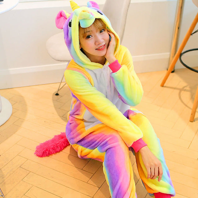 Cute Cartoon Rainbow Unicorn Pajamas