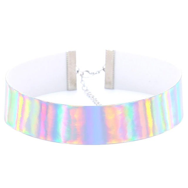 Holographic Choker Necklace