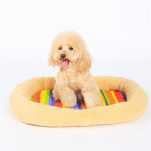 Anti-slip Soft Rainbow Dog Cushion