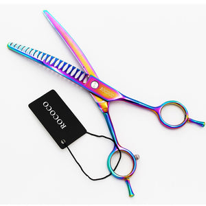 7 inch Rainbow Dog Grooming Scissors