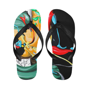 WHEN SHE MOVES (Men/Women Flip Flops)