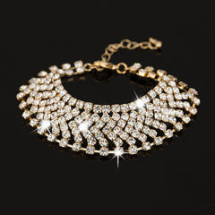 Gold and silver plated girl crystal gift fashion  rhinestone bracelet